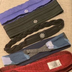 Lululemon & Athleta hairbands set of 5
